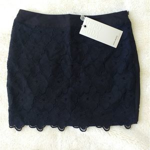 Vero Moda Black Lace Mini Skirt Extra Small